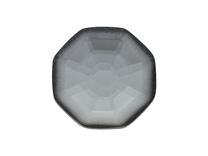 Swarovski 2611G 10mm Solaris 1/2 Matte Flatback Crystal Silver Night