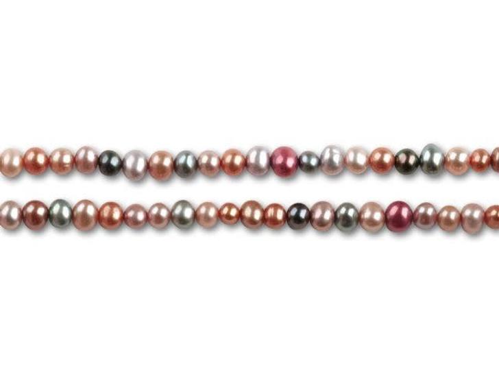3.5-4mm Nostalgia Mix Potato Pearls Strand