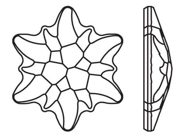 Swarovski 2753 14mm Edelweiss Hotfix Flatback Crystal