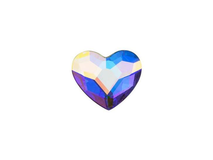 Swarovski 2808 10mm Heart Flatback Crystal AB