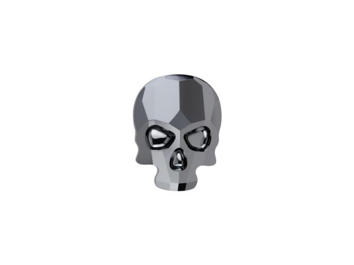 Swarovski 2856 10mm Skull Flatback Jet Hematite