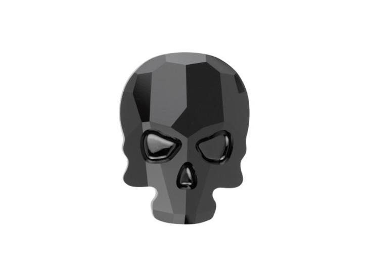 Swarovski 2856 18mm Skull Flatback Jet