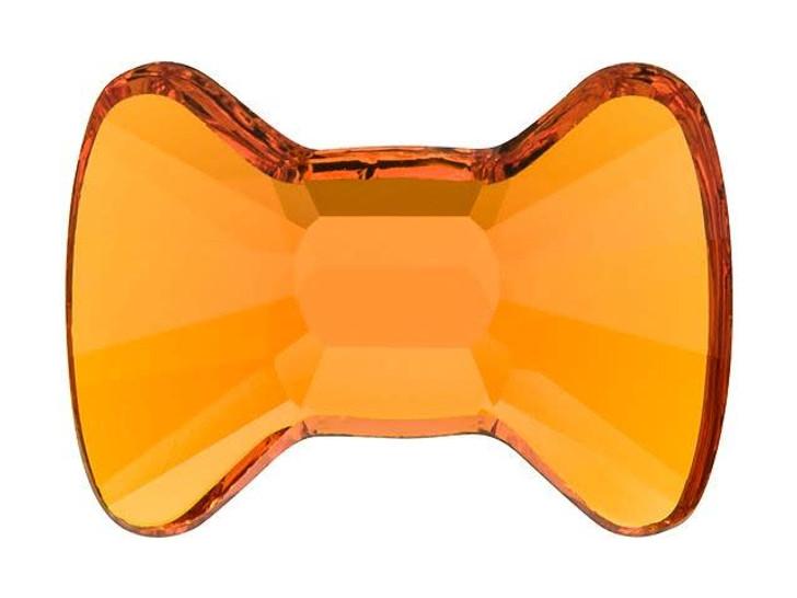 Swarovski 2858 12x8.5mm Bow Tie Flatback Tangerine