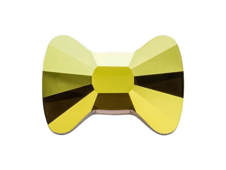 Swarovski 2858 12x8.5mm Hotfix Bow Tie Flatback Crystal Iridescent Green