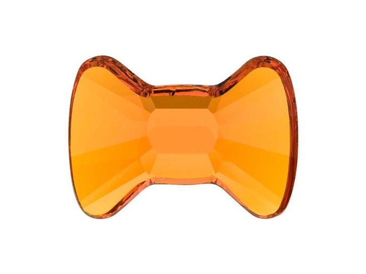 Swarovski 2858 12x8.5mm Hotfix Bow Tie Flatback Tangerine
