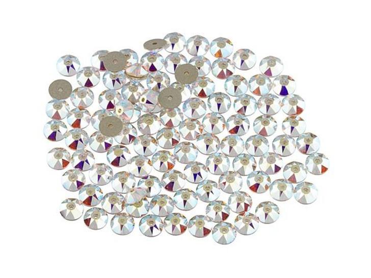 Swarovski 3188 5mm XIRIUS Lochrose Crystal Sequin Crystal AB Bulk Pack (100 Pcs)