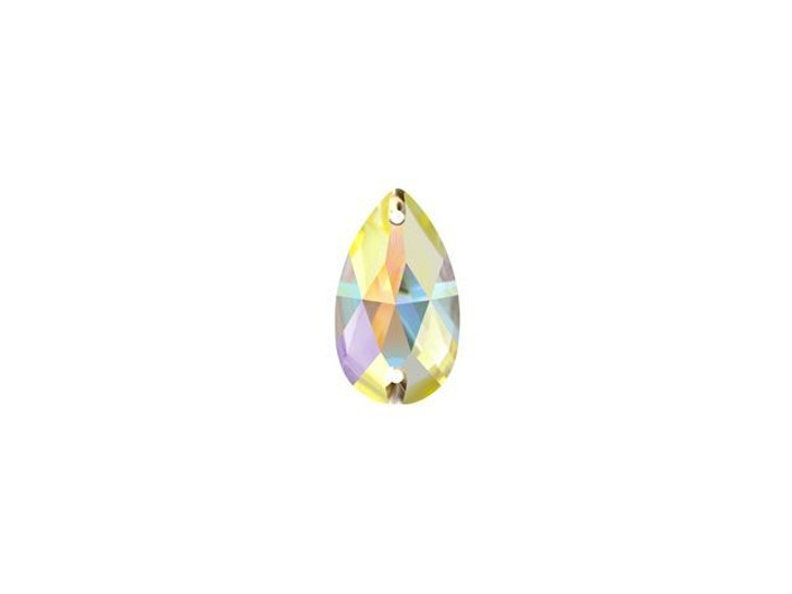 Swarovski 3230 12mm Teardrop Sew-on Rhinestone Crystal AB