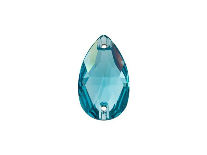 Swarovski 3230 18x10.5mm Teardrop Sew-on Stone Light Turquoise
