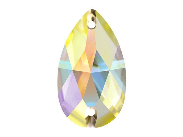 Swarovski 3230 28mm Teardrop Sew-on Rhinestone Crystal AB