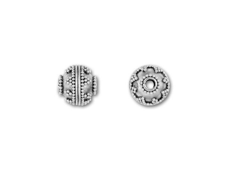 Bali Silver Round Bead with Granulation