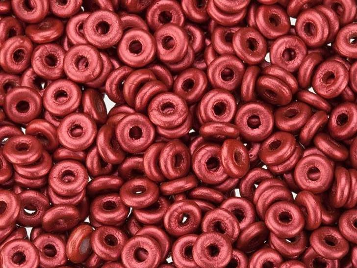 Czech Glass O Beads 3.8 x 1mm Lava Red 8g Bag