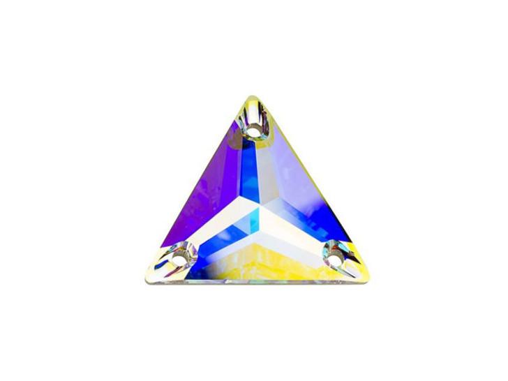 Swarovski 3270 16mm Triangle Sew-On Stone Crystal AB