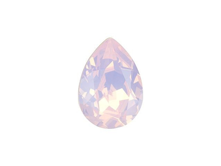 Swarovski 4320 14mm Pear Fancy Stone Rose Water Opal