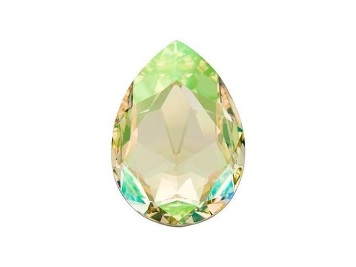 Swarovski 4327 30x20mm Fancy Pear Crystal Luminous Green