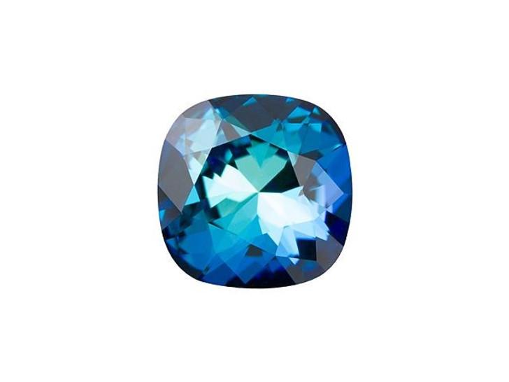 Swarovski 4470 10mm Cushion Fancy Stone Crystal Bermuda Blue