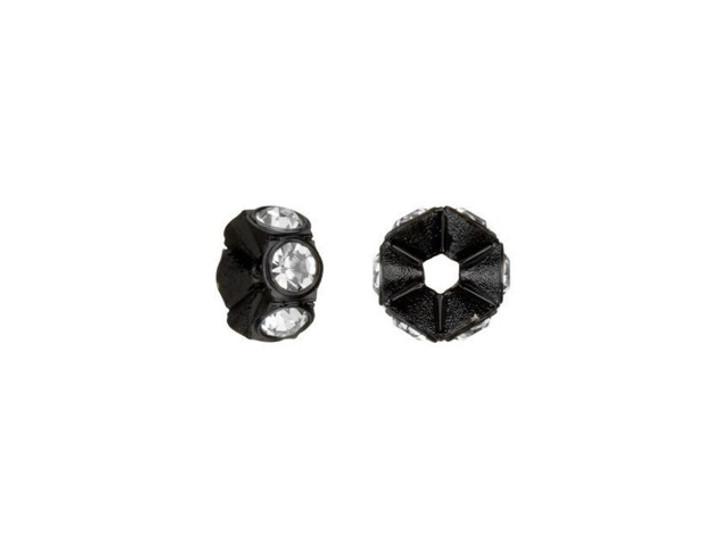 Swarovski 4720 PP14 Black Mini Plastic Rondelle with Crystals