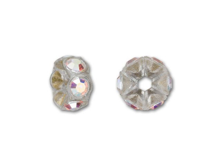 Swarovski 4720 PP14 Transparent Mini Plastic Rondelle with Crystal AB Crystals