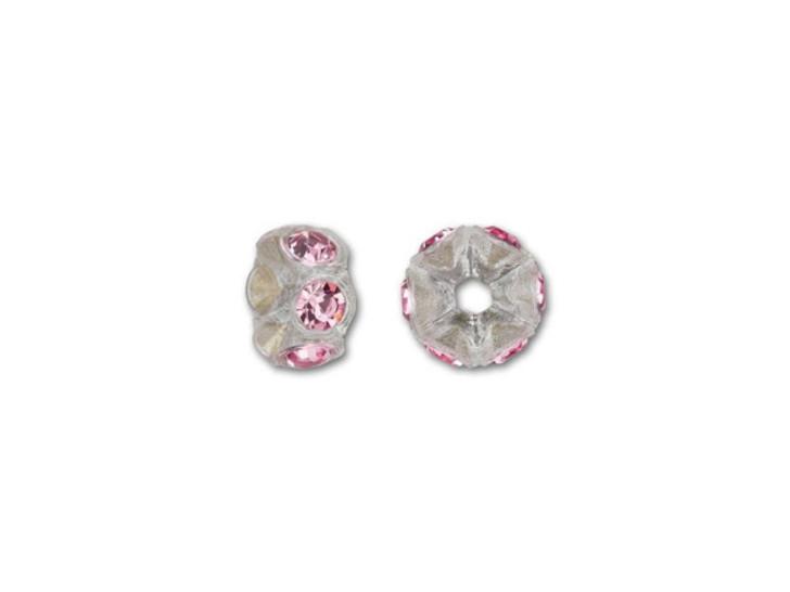 Swarovski 4720 PP14 Transparent Mini Plastic Rondelle with Light Rose Crystals