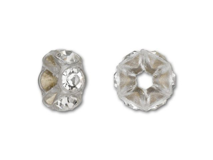 Swarovski 4720 PP18 Transparent Mini Plastic Rondelle with Crystals