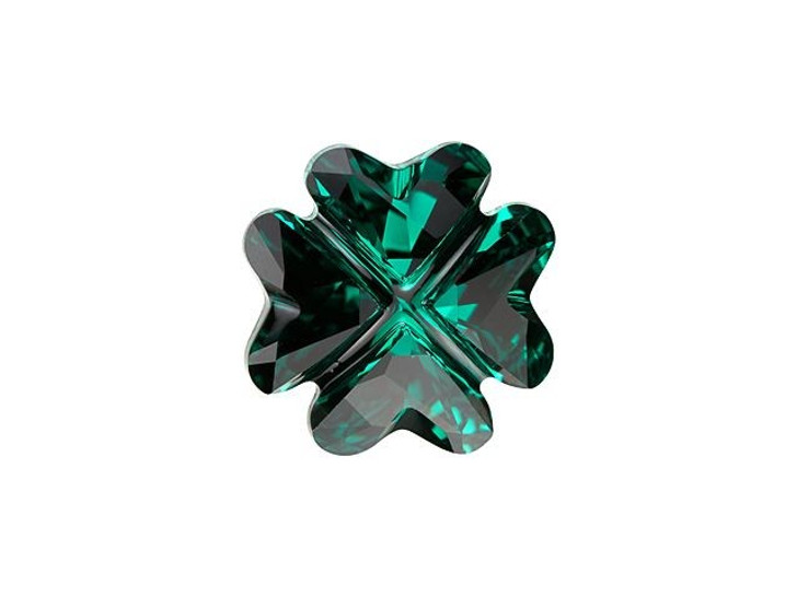 Swarovski 4785 Clover Fancy Stone 14mm Emerald
