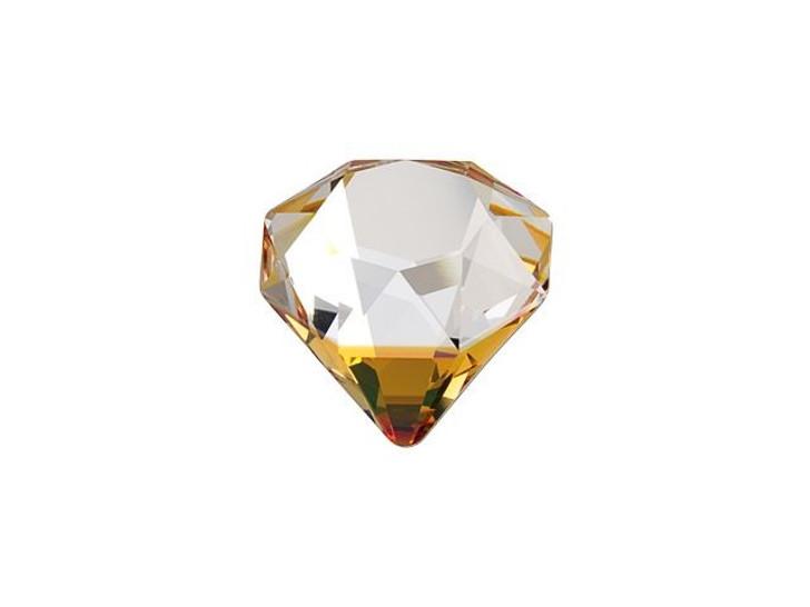 Swarovski 4928 12mm Tilted Chaton Fancy Stone Crystal Copper