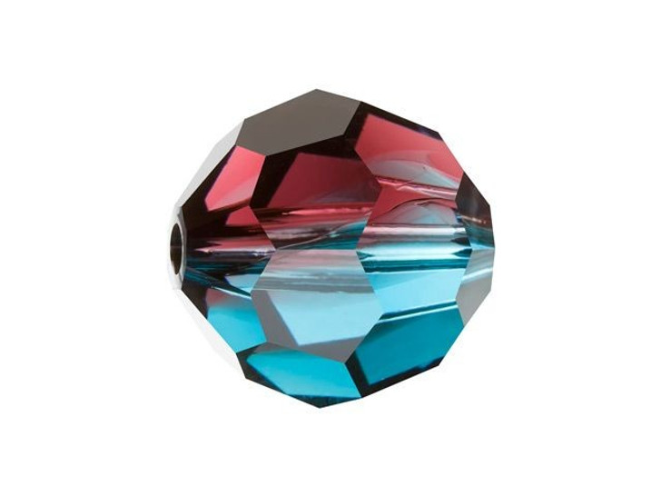 Swarovski 5000 10mm Faceted Round Burgundy-Blue Zircon Blend