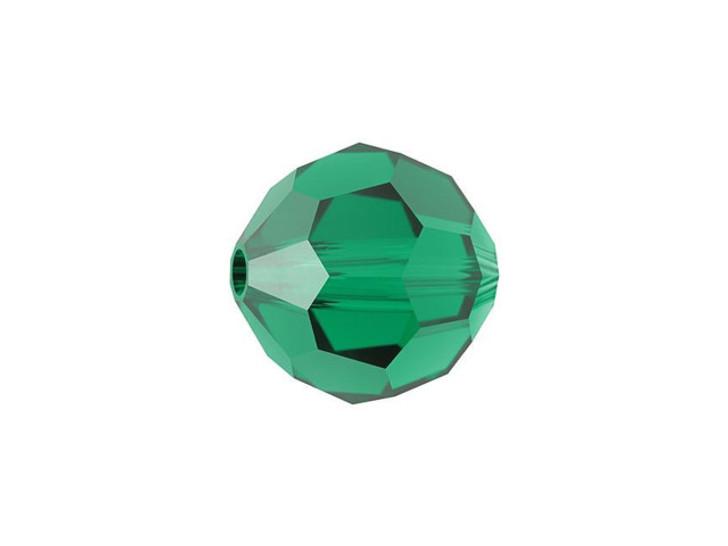 Swarovski 5000 10mm Faceted Round Emerald