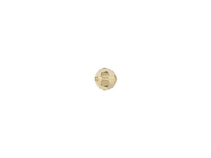 Swarovski 5000 3mm Faceted Round Crystal Golden Shadow