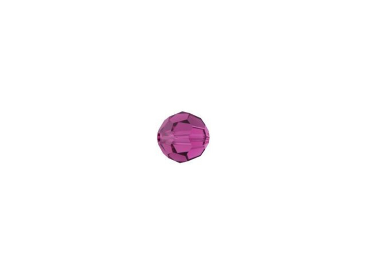 Swarovski 5000 3mm Faceted Round Fuchsia