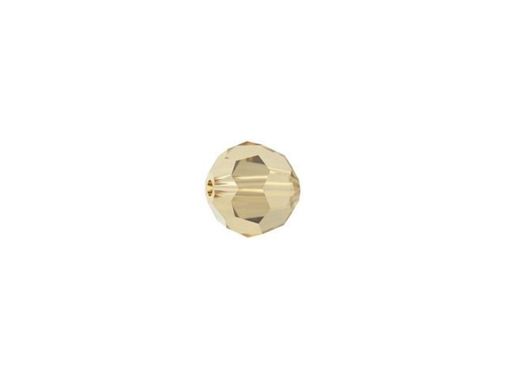 Swarovski 5000 4mm Faceted Round Crystal Golden Shadow