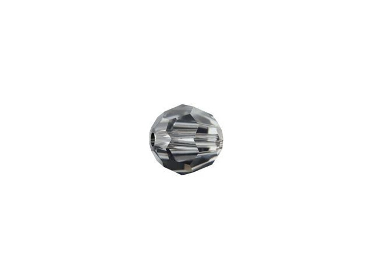 Swarovski 5000 4mm Faceted Round Crystal Silver Night