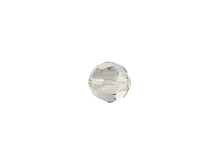 Swarovski 5000 4mm Faceted Round Crystal Silver Shade