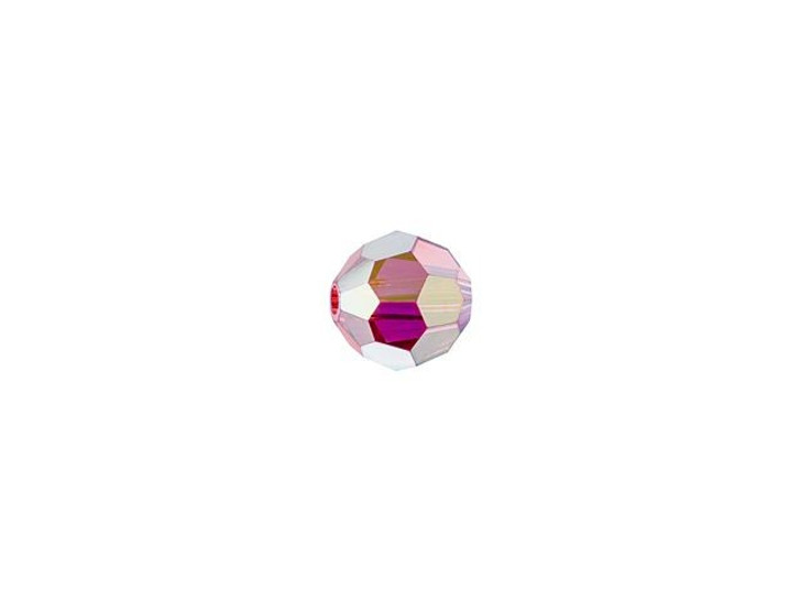 Swarovski 5000 4mm Faceted Round Padparadscha AB Full Coat