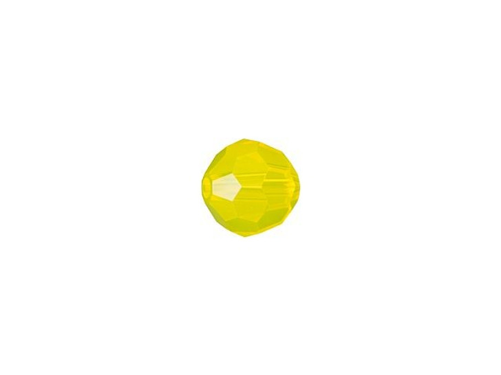 Swarovski 5000 4mm Faceted Round Yellow Opal