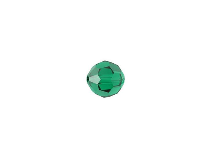 Swarovski 5000 5mm Faceted Round Emerald