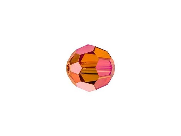 Swarovski 5000 6mm Faceted Round Crystal Astral Pink Full Coat