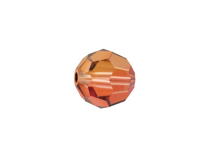 Swarovski 5000 6mm Faceted Round Crystal Copper