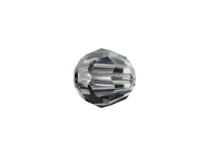 Swarovski 5000 6mm Faceted Round Crystal Silver Night