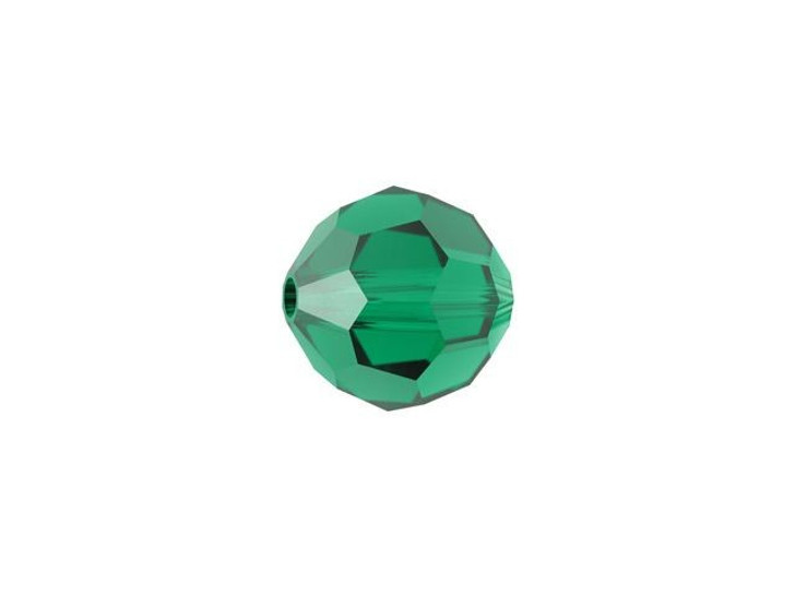 Swarovski 5000 6mm Faceted Round Emerald
