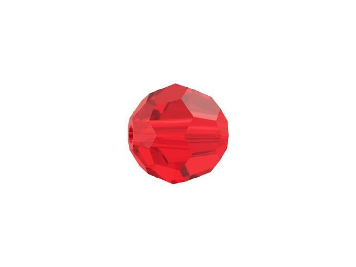 Swarovski 5000 6mm Faceted Round Light Siam