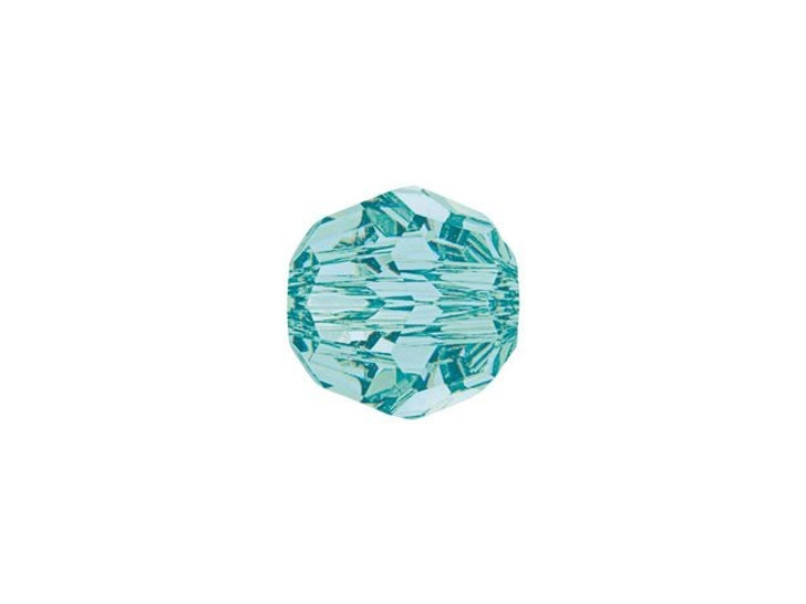 Swarovski 5000 6mm Faceted Round Light Turquoise