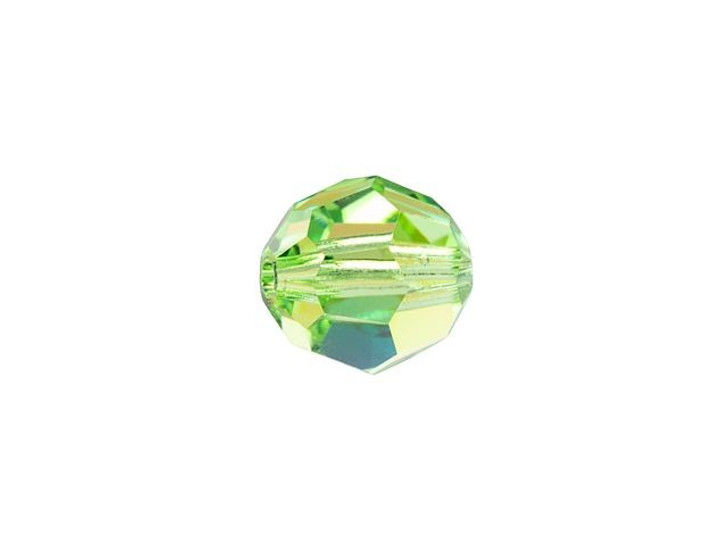 Swarovski 5000 6mm Faceted Round Peridot Shimmer