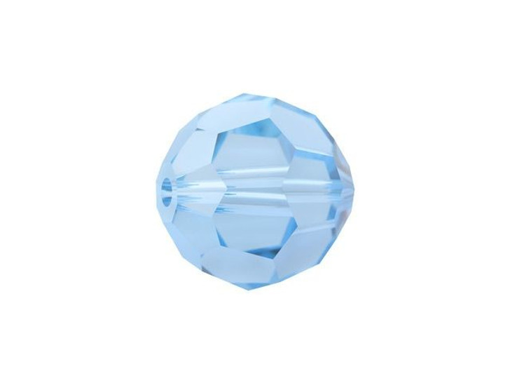 Swarovski 5000 8mm Faceted Round Aquamarine