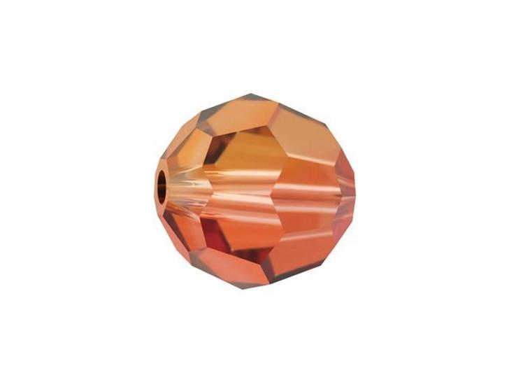 Swarovski 5000 8mm Faceted Round Crystal Copper