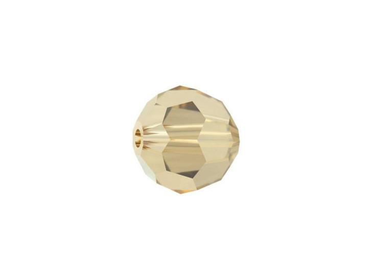 Swarovski 5000 8mm Faceted Round Crystal Golden Shadow