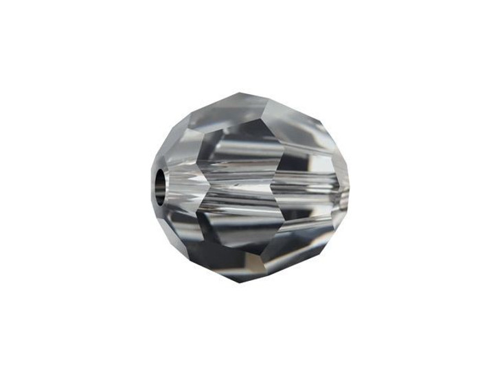 Swarovski 5000 8mm Faceted Round Crystal Silver Night