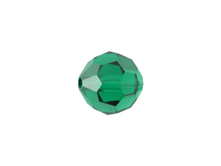Swarovski 5000 8mm Faceted Round Emerald
