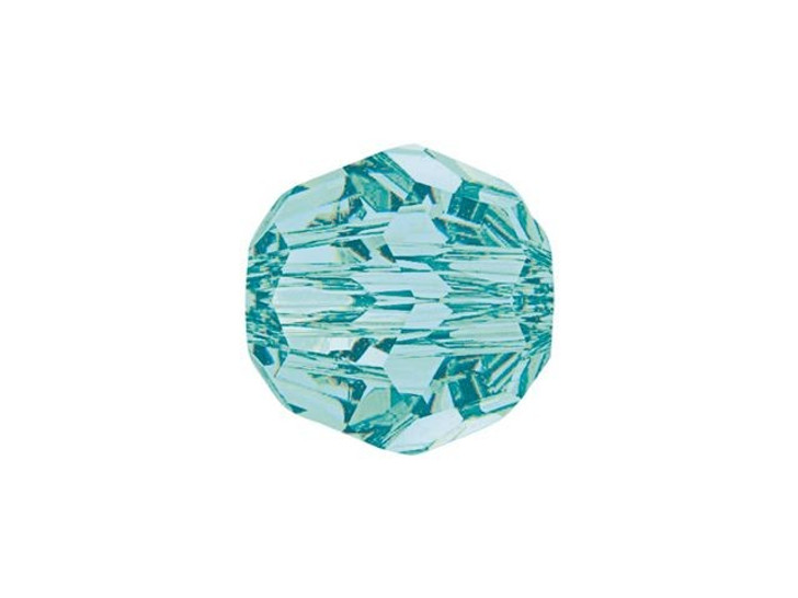 Swarovski 5000 8mm Faceted Round Light Turquoise