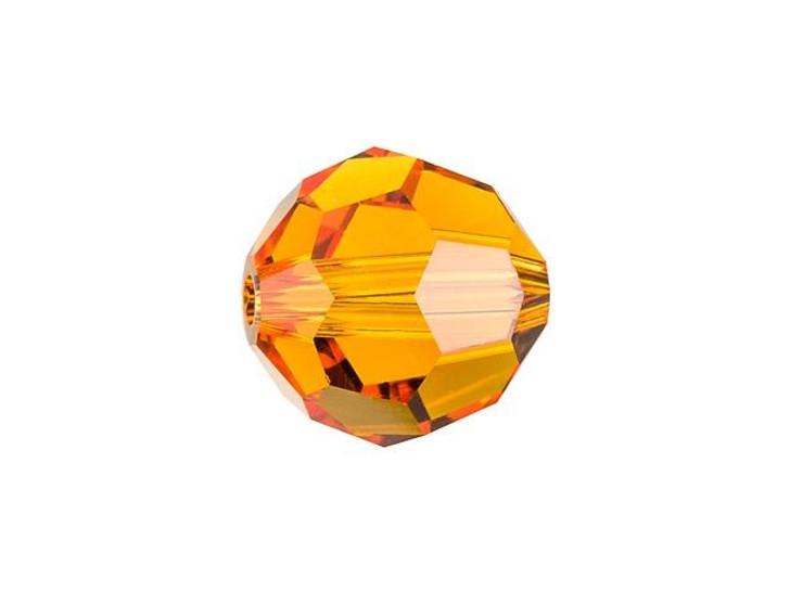 Swarovski 5000 8mm Faceted Round Tangerine
