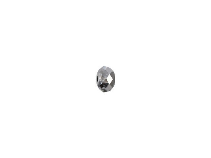 Swarovski 5040 4mm Briolette Bead Crystal Silver Night